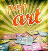 Pop art vintage poster design Retro — Stock Photo