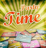 Party time vintage poster design Retro — Stock Photo