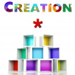Creation with colorful 3d design illustration — Stock Photo #41840995