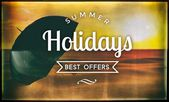 Summer holidays best offers, vintage poster — Stock Photo