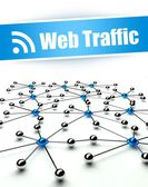 Web traffic conception of internet and communication — Stok fotoğraf