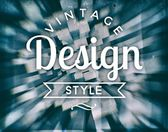 Vintage design style. retro conceptual poster — Stock Photo