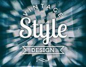 Vintage style design. retro conceptual poster — Stock Photo