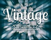 Art vintage retro style, conceptual poster — Stock Photo