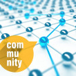 Community, conception of network and communication — Stock Photo #42004307