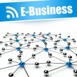 E-business, conception of internet and communication — Stock Photo