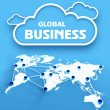 Global business, communication world map — Stock Photo #42004471