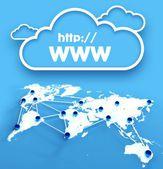 Http www over communication world map — Stock Photo