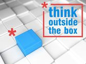 Think outside the box, one unique leader — Stock Photo