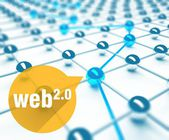 Web 20 conception of network and communication — Stock Photo