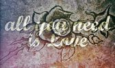 All You Need is Love on stone rose — Stock Photo