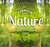 Premium nature product slogan, ecology concept — Stock Photo