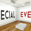 Special event frame wall in gallery interior — Stock Photo #42579737