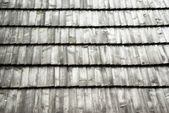 Old wooden shingled roof texture — Stock Photo