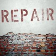 Repair concept on old brick wall — Stock Photo #45363449