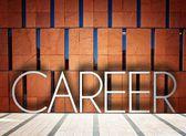 Career on modern building creative illustration — Stock Photo
