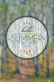 Hello summer, creative conceptual illustration — Stock Photo