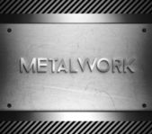 Metalwork concept on steel plate — Stock Photo