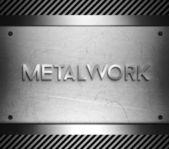 Metalwork concept on steel plate — Stock Photo