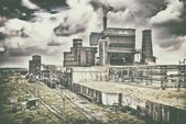 Old ironworks industrial landscape of steel work industry — Stock Photo