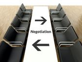 Business negotiation, workplace for negotiations — Stockfoto