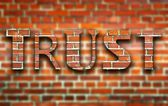 Trust made of bricks creative illustration — Stock Photo