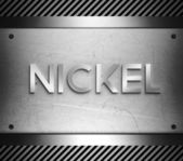 Nickel concept on steel plate — Stock Photo