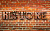 Restore made of bricks creative illustration — Stock Photo