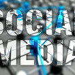 Social media concept, network background — Stock Photo #47752875