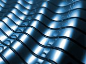 Blue metal abstract architectural wallpaper — Stock Photo
