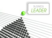 Business leader corporation, unique concept — Stock Photo