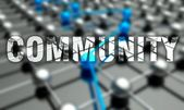Community concept, network background — Stock Photo