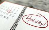Holiday important day, calendar concept — Stock Photo