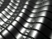 Silver metal abstract architectural wallpaper — Stock Photo