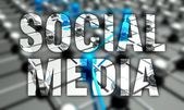 Social media concept, network background — Stock Photo
