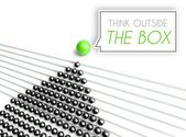 Think outside the box business concept — Stockfoto