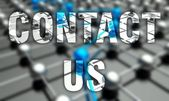 Contact us concept, network background — Stock Photo