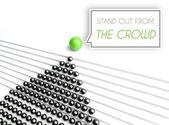 Destacam-se o conceito de negócio da multidão — Foto Stock