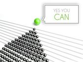 Yes you can, business unique concept — Stockfoto
