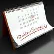 Quitting smoking important day, calendar concept — Stock Photo #47886049