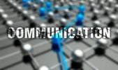 Communication concept, network background — Stock Photo