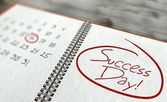 Success important day, calendar concept — Stock Photo
