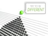 Try to be different, business unique concept — Stockfoto