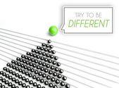 попробуйте быть разными, уникальная концепция бизнеса — Стоковое фото