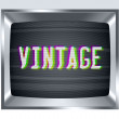 Vintage old tv screen with noise — Stock Photo #48405857
