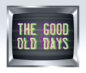 The good old days old tv screen with noise — Stock Photo