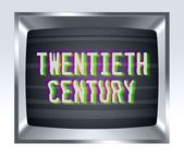 Twentieth century old tv screen with noise — Stock Photo