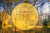 Autumn time creative, conceptual illustration — Stock Photo