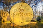 Happy thanksgiving Autumn conceptual illustration — Foto Stock