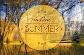 Indian summer, Autumn conceptual illustration — Stock Photo